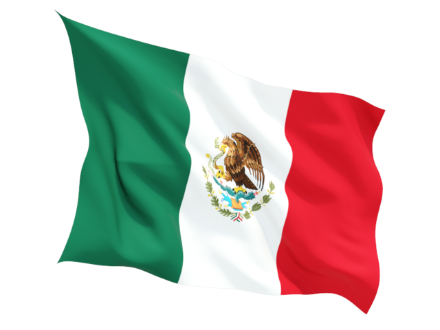 Mexican American Flag Waving