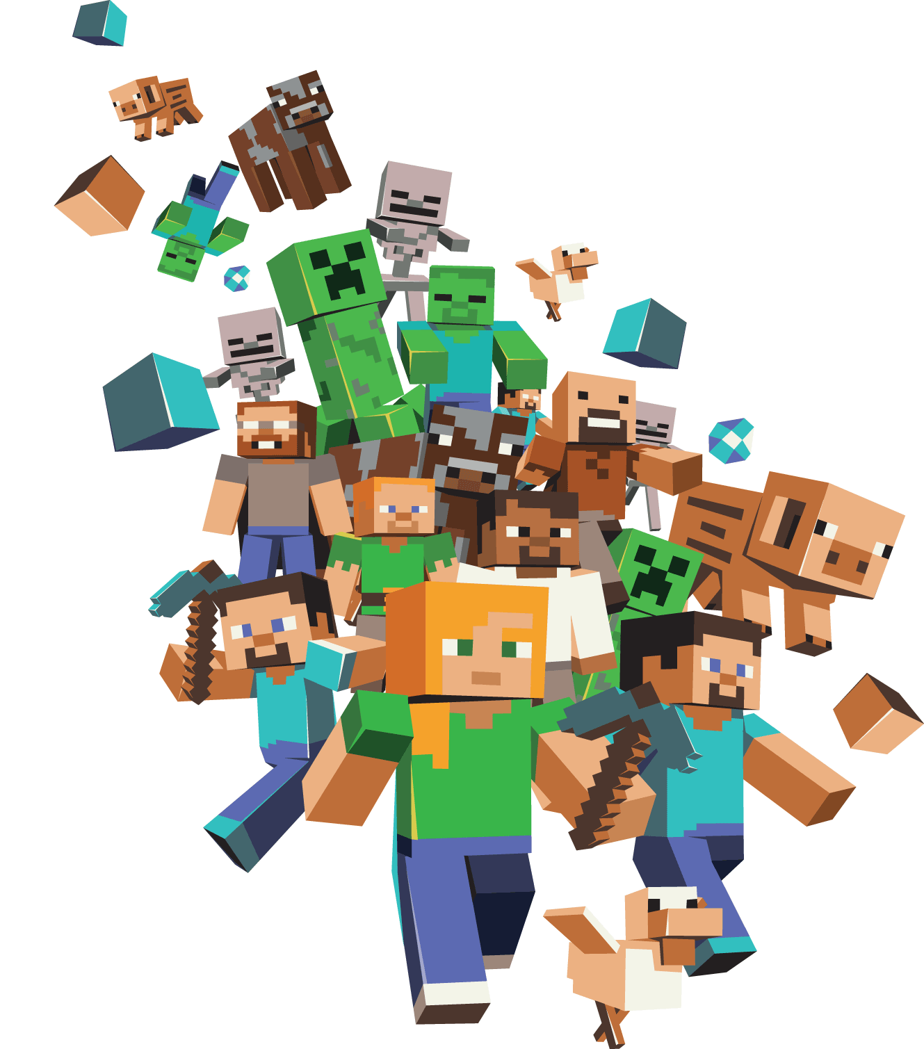 Download Minecraft Characters Png HQ PNG Image | FreePNGImg for Minecraft Characters Pictures  lp00lyp