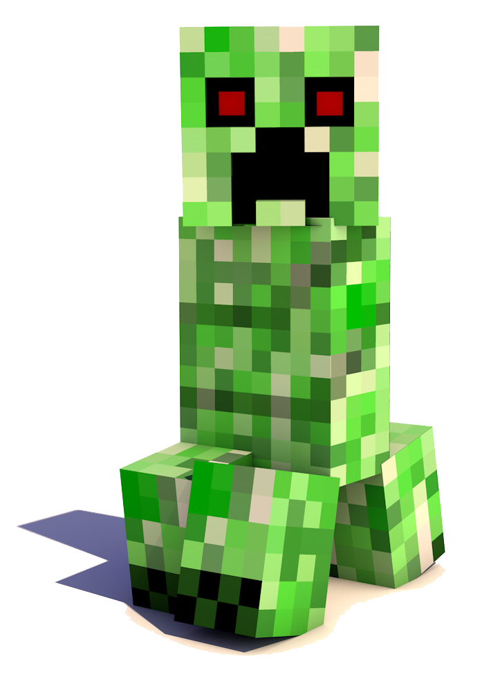 Creeper Green Minecraft Grass Resolution Display PNG Image