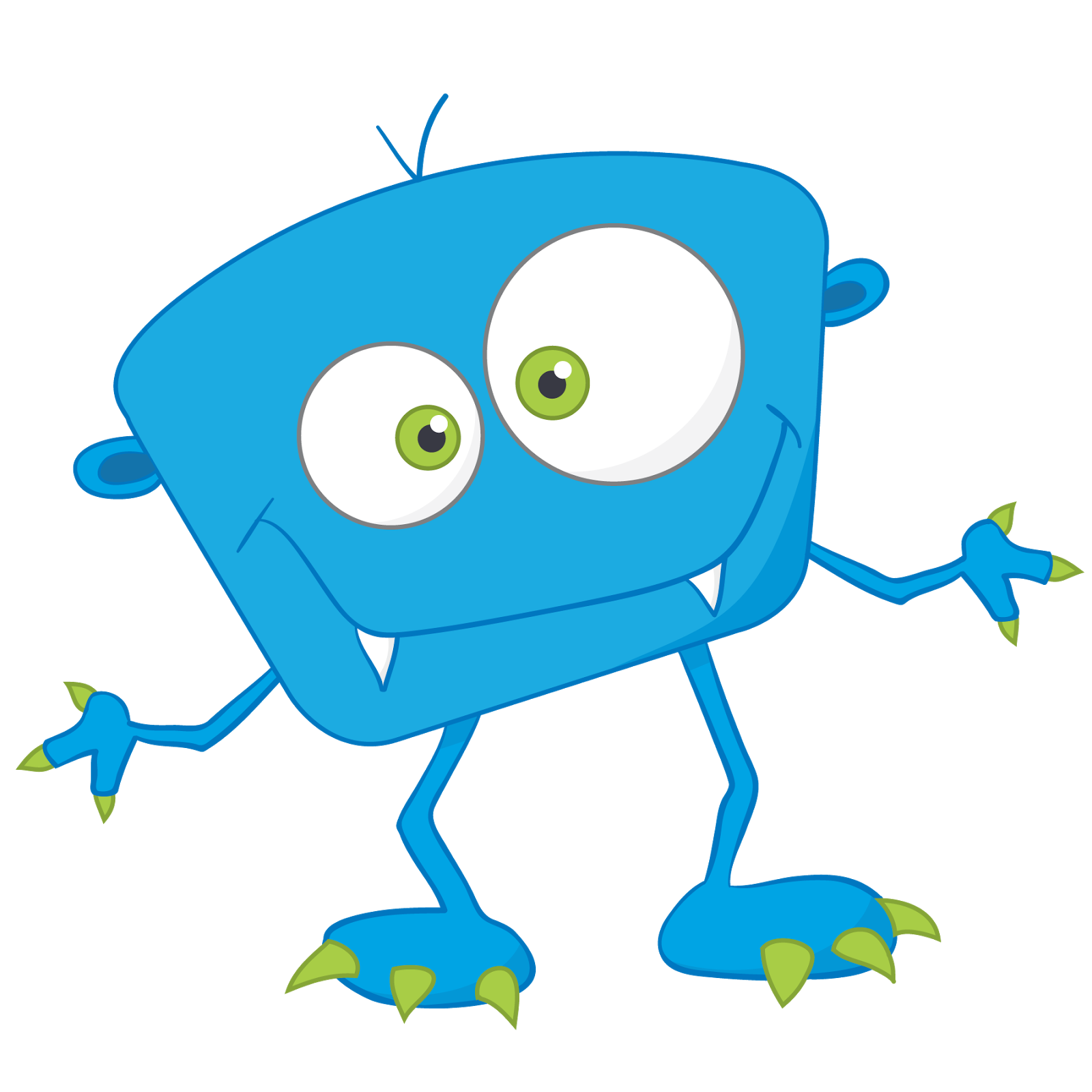 Blue Monster Free Download PNG Image