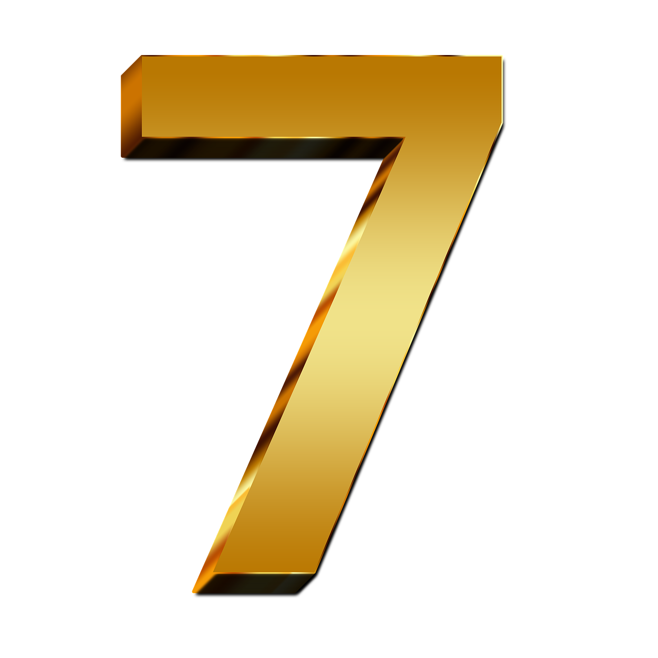 7 Number Png PNG Image