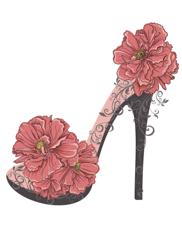 Illustration High Vector Shoe Graphics Heels Chanel PNG Image