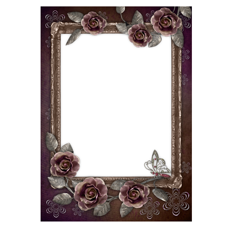 Rose Frame Flower Black Film Free PNG HQ PNG Image