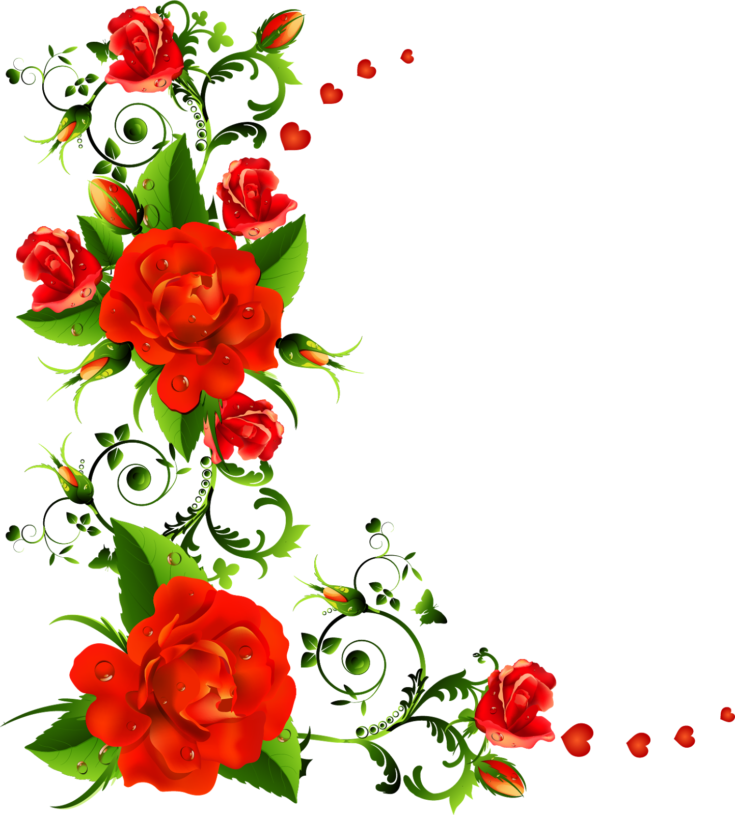 Download Free Rose Flower Border Free Download Png Hd Icon Favicon Freepngimg
