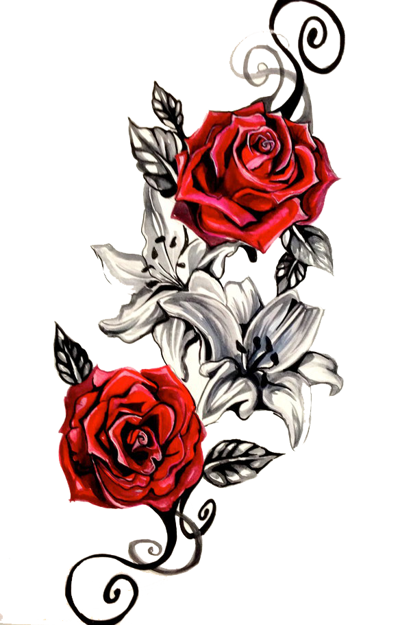 ebfac4b823345 Download Rose Tattoo Png Clipart HQ PNG Image in different ...