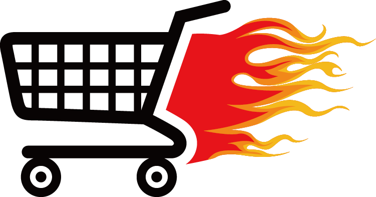 Flame Shopping Cart Icon Free HQ Image PNG Image