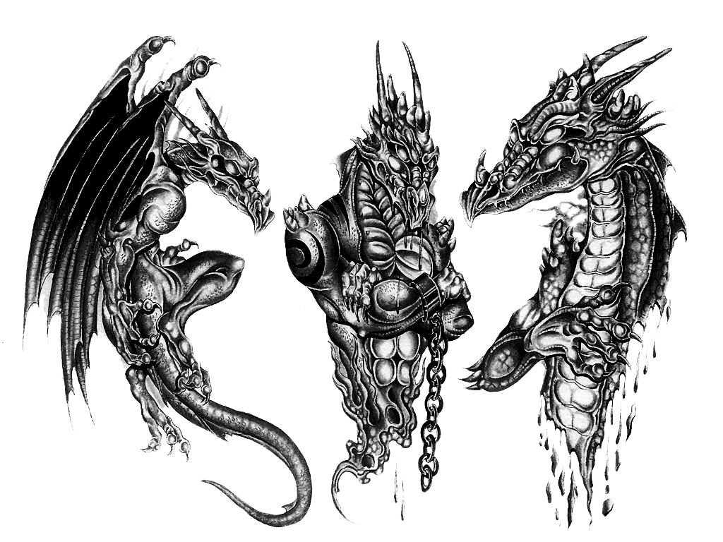 download 3d dragon tattoo design hq png image freepngimg. Black Bedroom Furniture Sets. Home Design Ideas