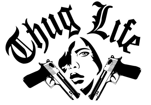 Download Thug Life Text Image HQ PNG Image