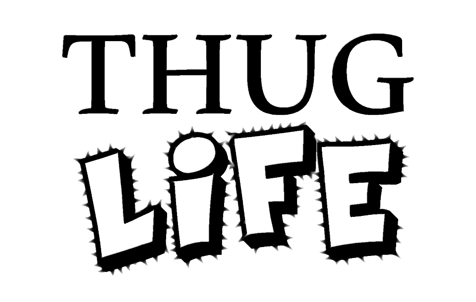 Download thug life text transparent background hq png image download png image thug life text transparent background voltagebd Images