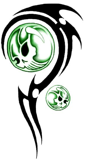 Download Tribal Skull Tattoos Png Hq Png Image Freepngimg