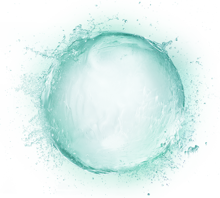 Elements Droplets Effect Water Green Fresh Icon PNG Image