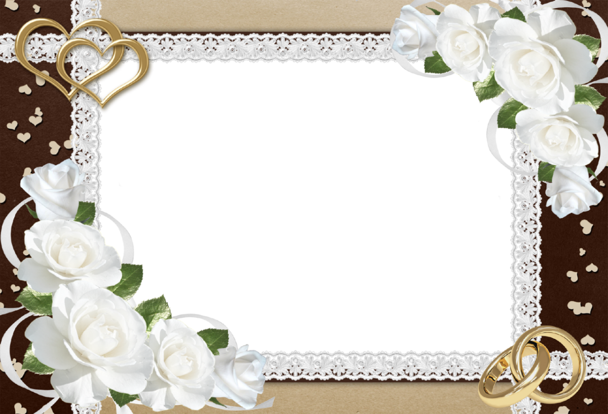 12311 Fancy Wedding Border Png Clipart on Name Tag Template With Animals 9