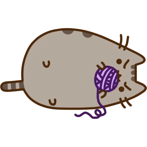 Purple Pusheen Youtube Invertebrate Cat PNG File HD PNG Image