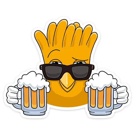 Telegram Sticker Fries French Hamburger Free Transparent Image HQ PNG Image