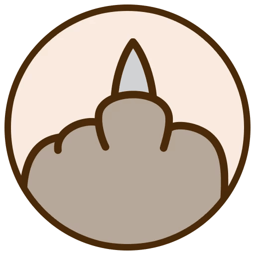 Telegram Sticker Pusheen Line Circle Free Frame PNG Image