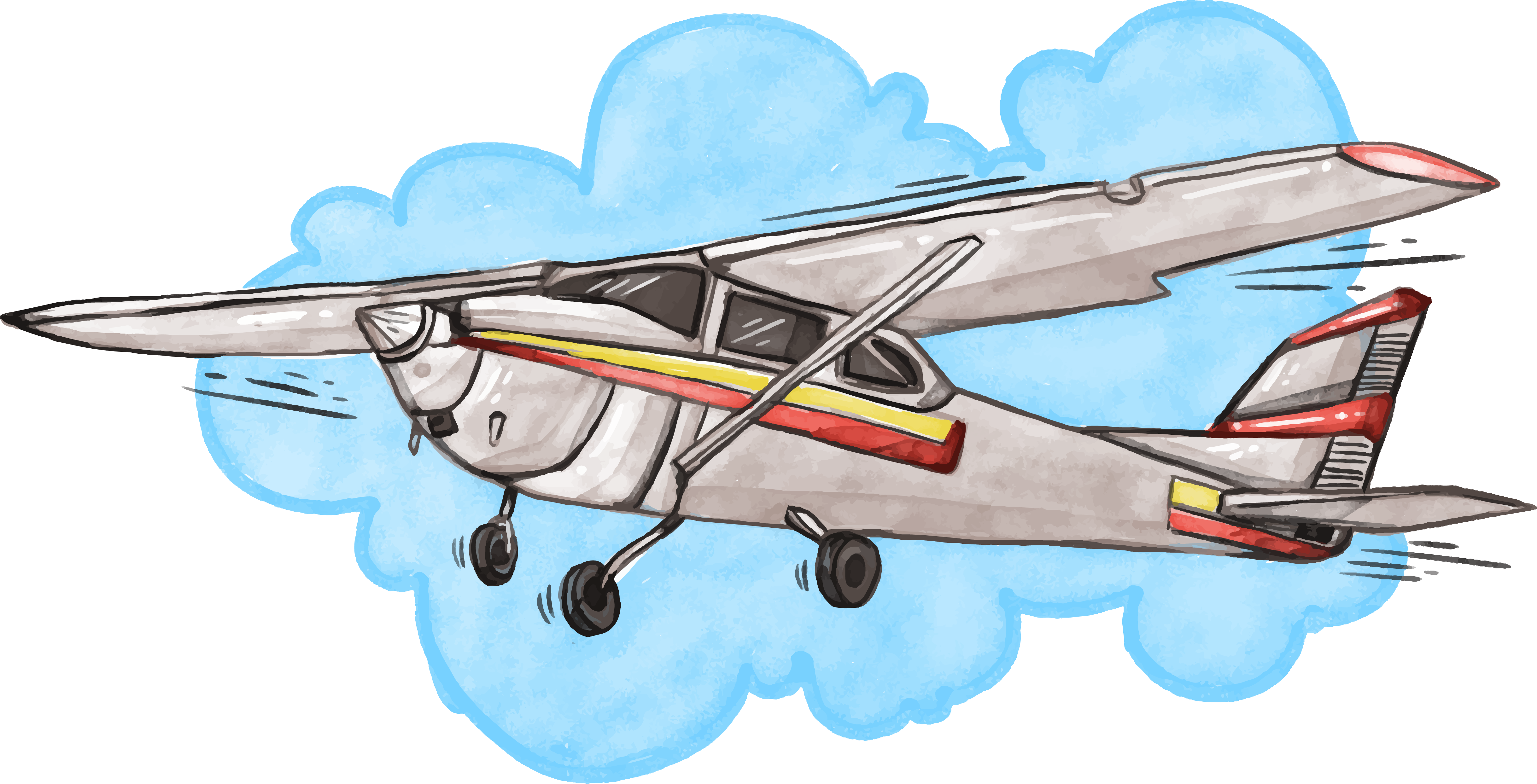 Flight Airplane Cessna 152 Sky Free Clipart HQ PNG Image