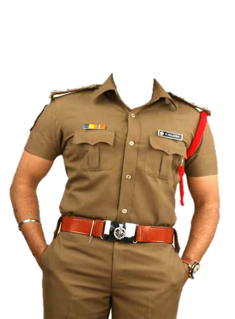 Picture Police Challenging Darshan Indian Officer Star PNG Image