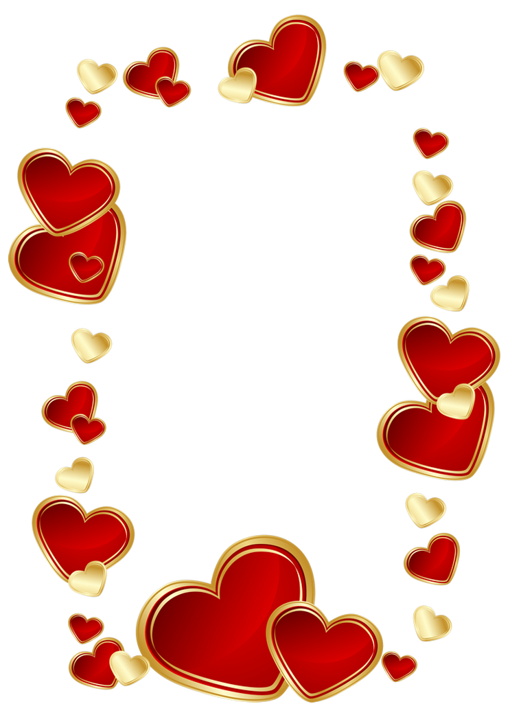 And Heart Love Gold Picture Decoration Hearts PNG Image