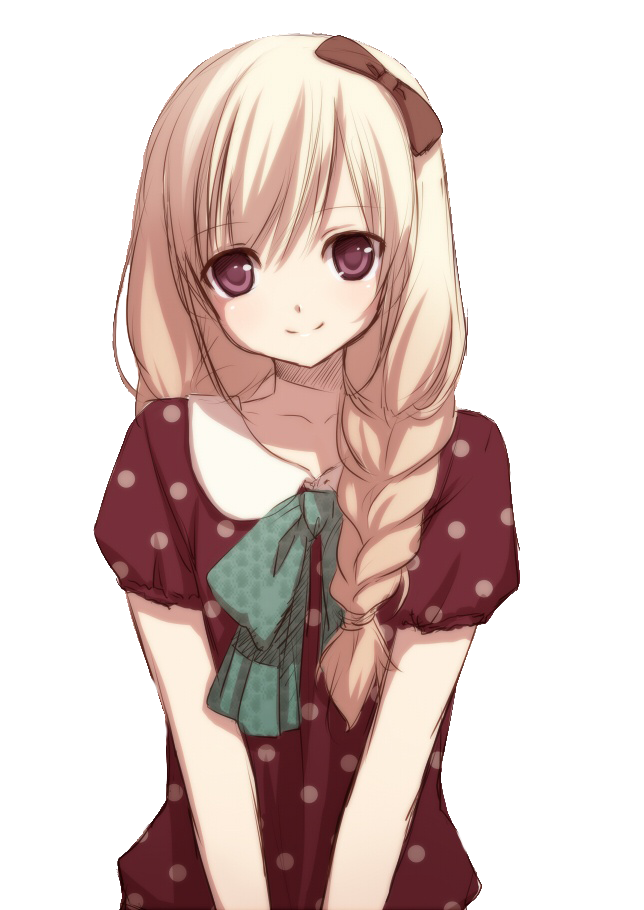 Anime Girl Transparent Image PNG Image