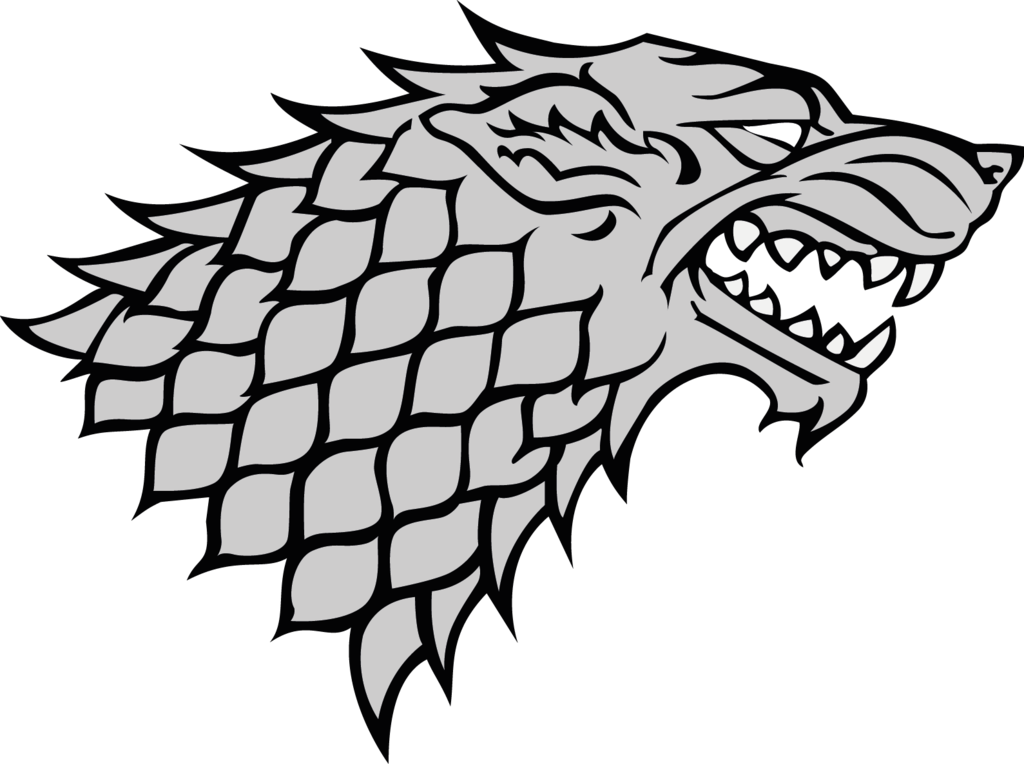 Art Eddard Stark Wolf Dire Monochrome Photography PNG Image