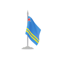 Aruba Flag Png Picture PNG Image