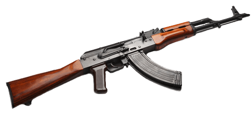 Ak-47 Kalash Russian Assault Rifle Png PNG Image