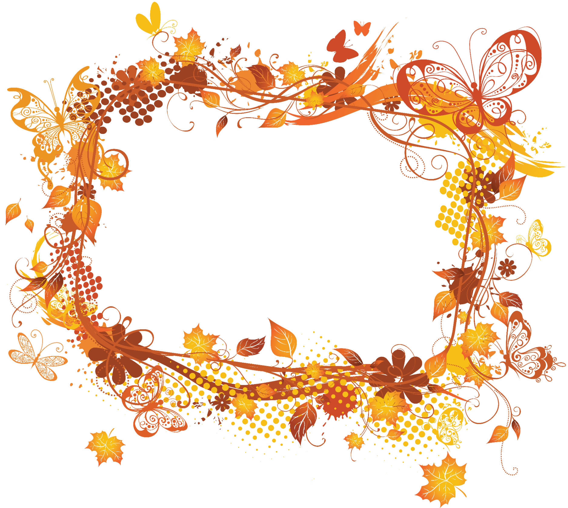 Frames Picture Autumn Flower Frame HQ Image Free PNG PNG Image