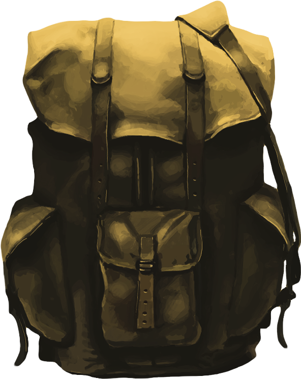 Backpack Painting PNG Image