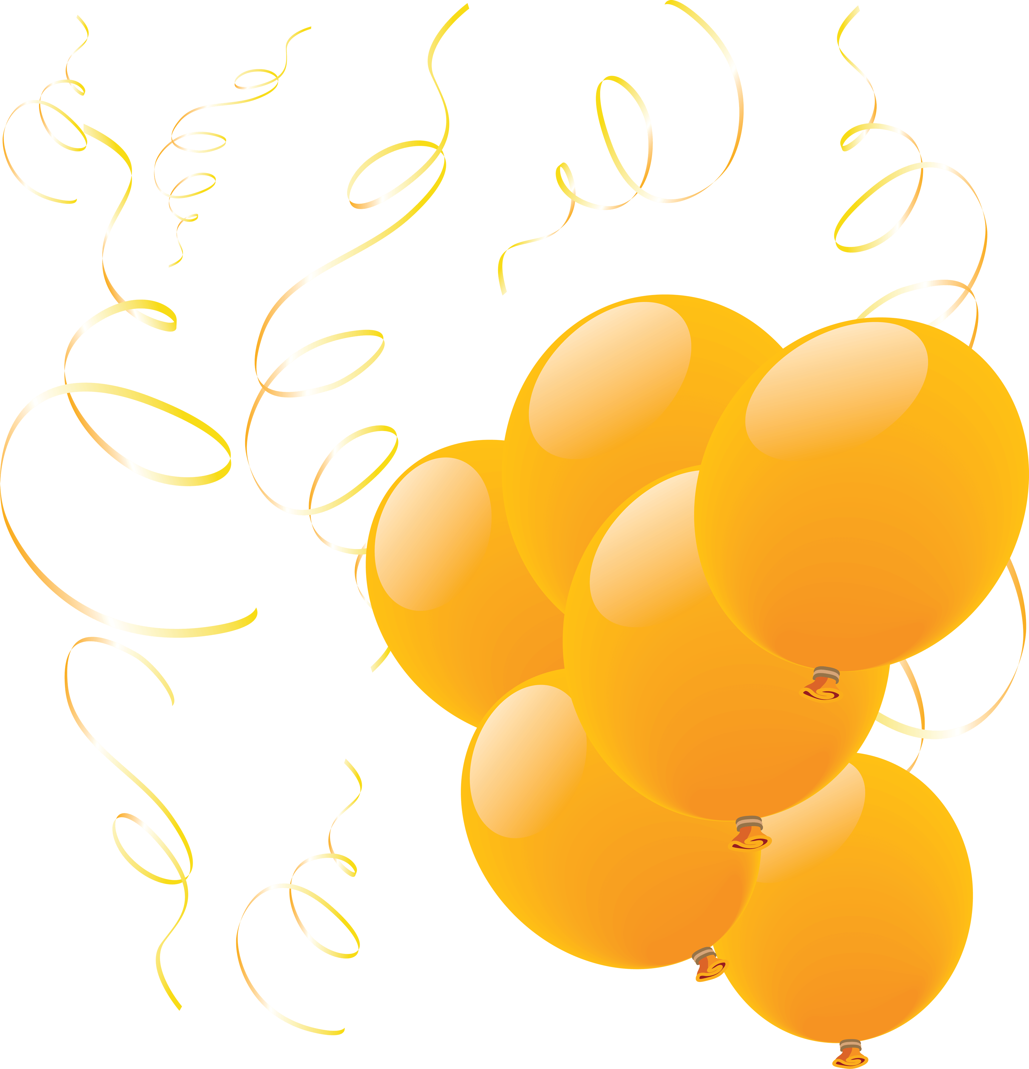 Yellow Balloons Png Image PNG Image