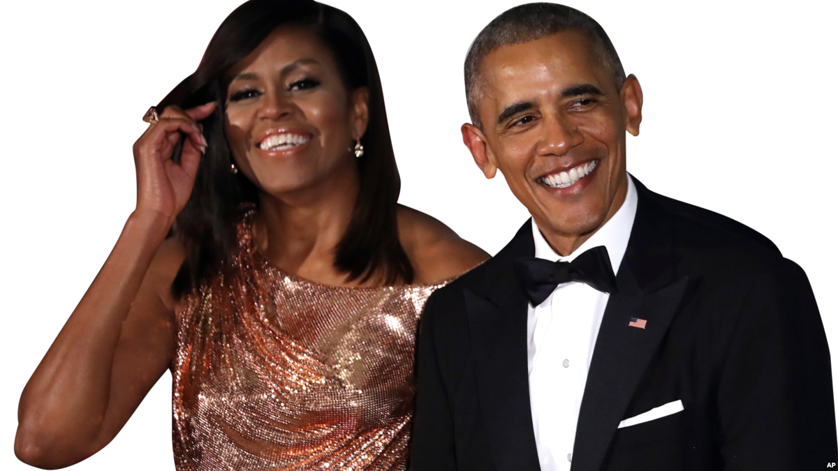 Michelle House Barack Wear Suit White Obama PNG Image