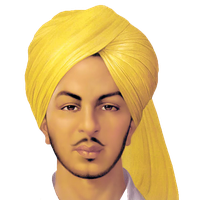 Bhagat Singh Clipart PNG Image