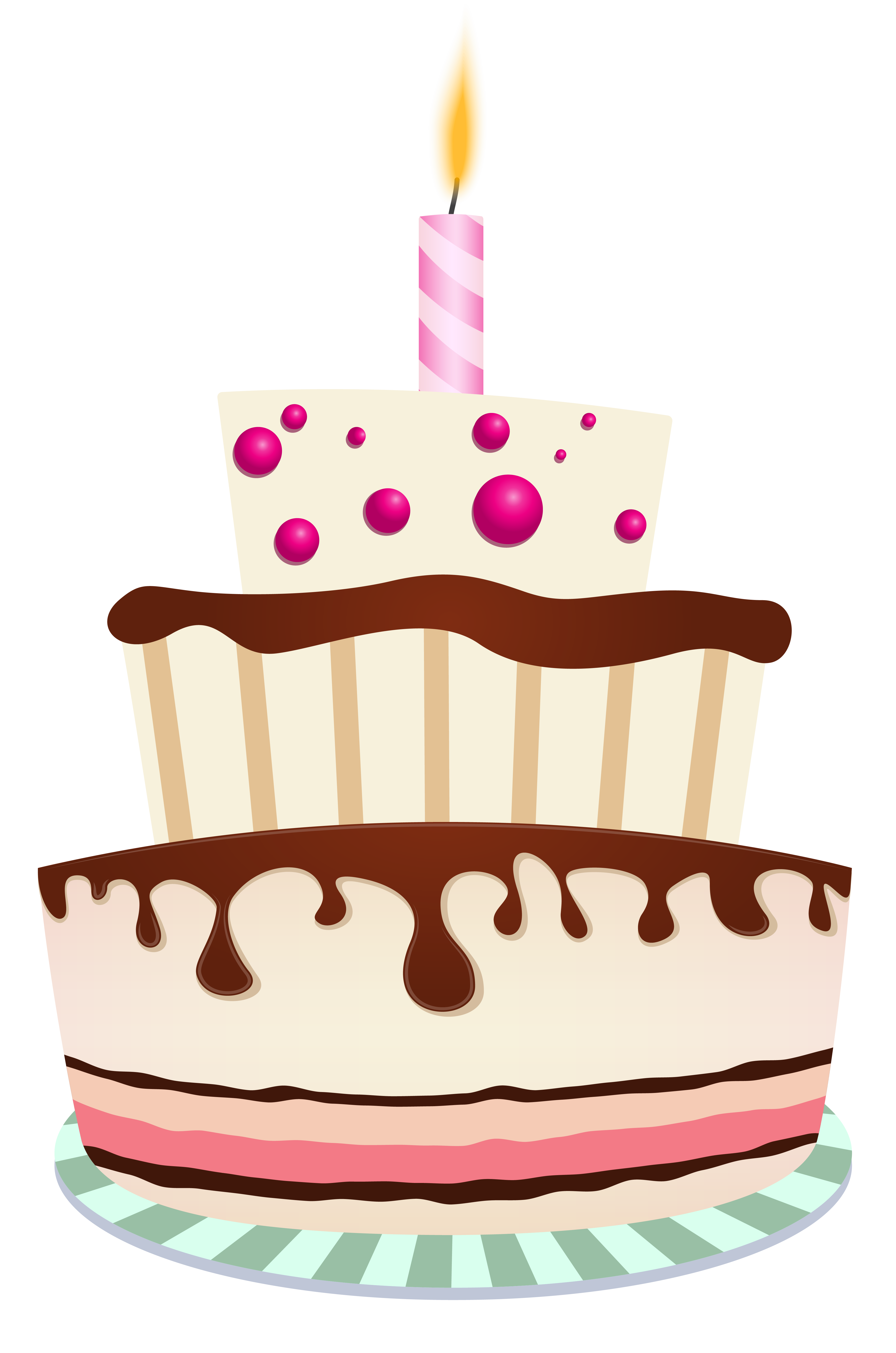 Download One Birthday Cake Candle Chocolate With HQ PNG ...