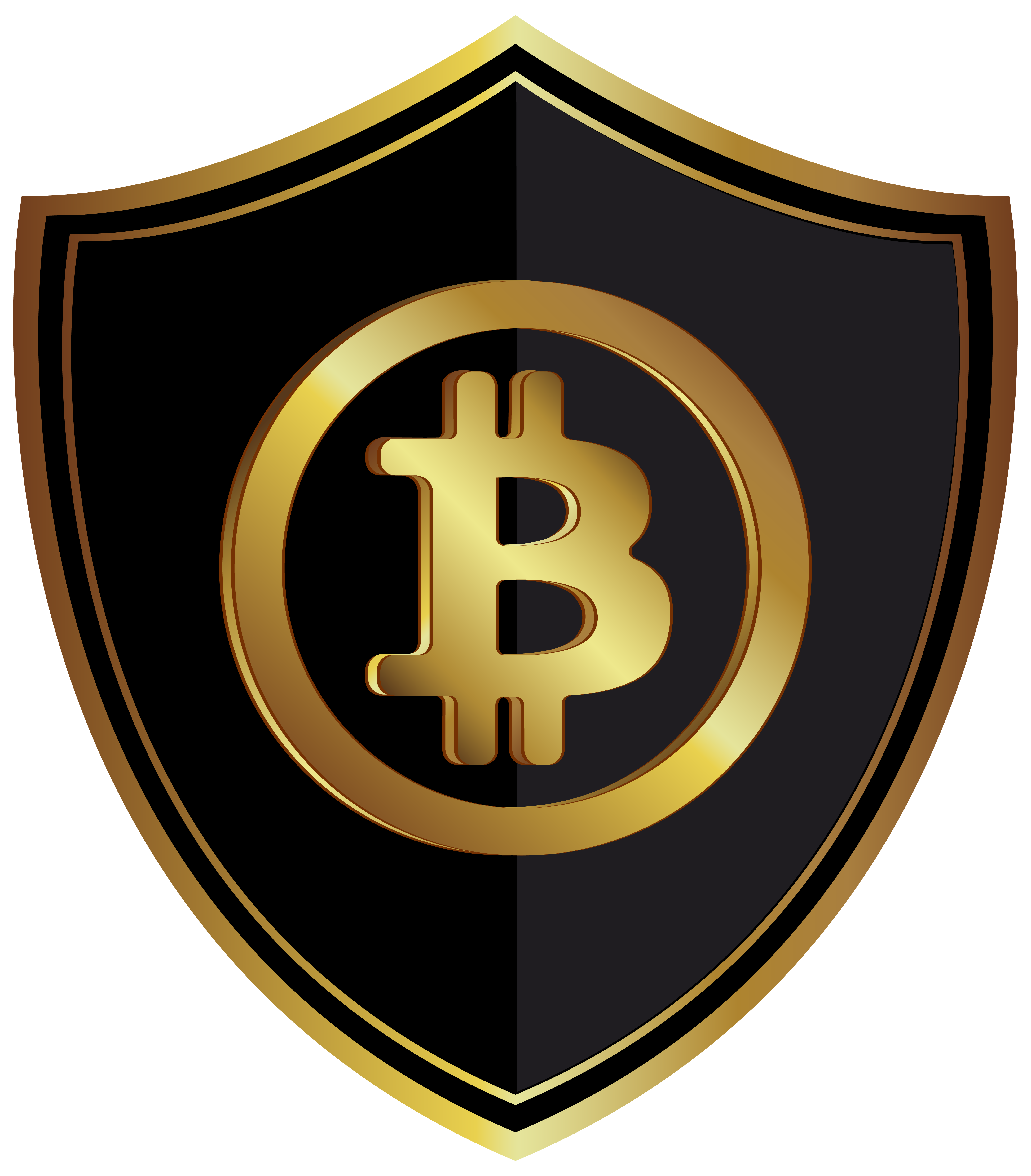 Cryptocurrency Badge Bitcoin Gold PNG File HD PNG Image