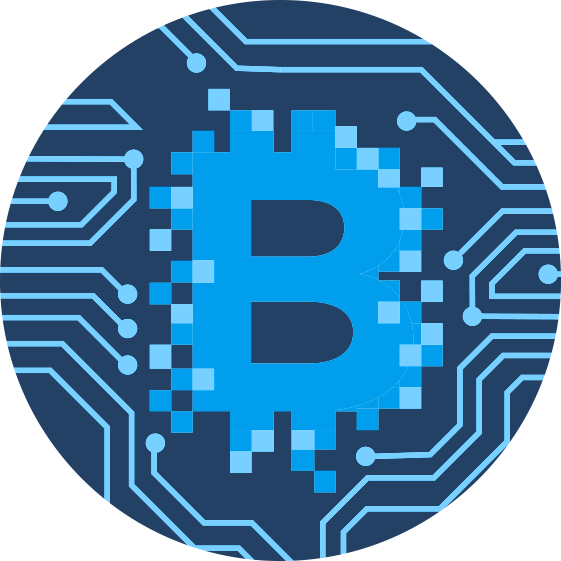 Blank digital cryptocurrency icon transparent logo