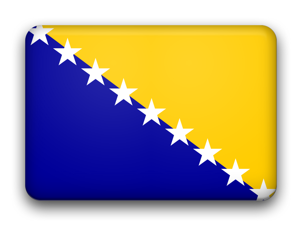 Bosnia And Herzegovina Flag Picture PNG Image