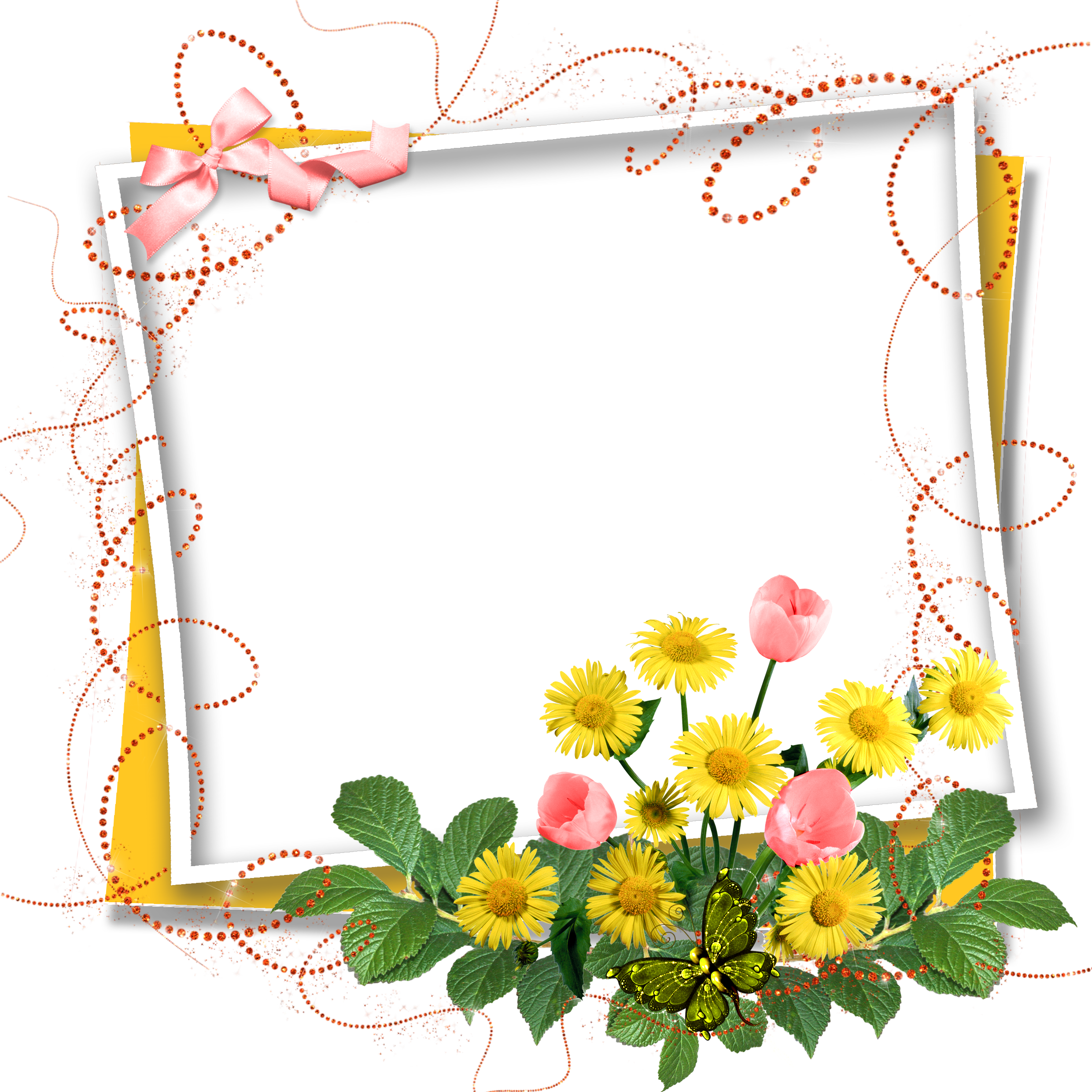 Download Flower Frame Greeting Note Birthday Cards HQ PNG ...