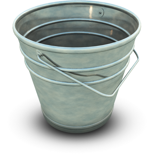 Glass Icons Bucket Hardware Paint Computer PNG Image