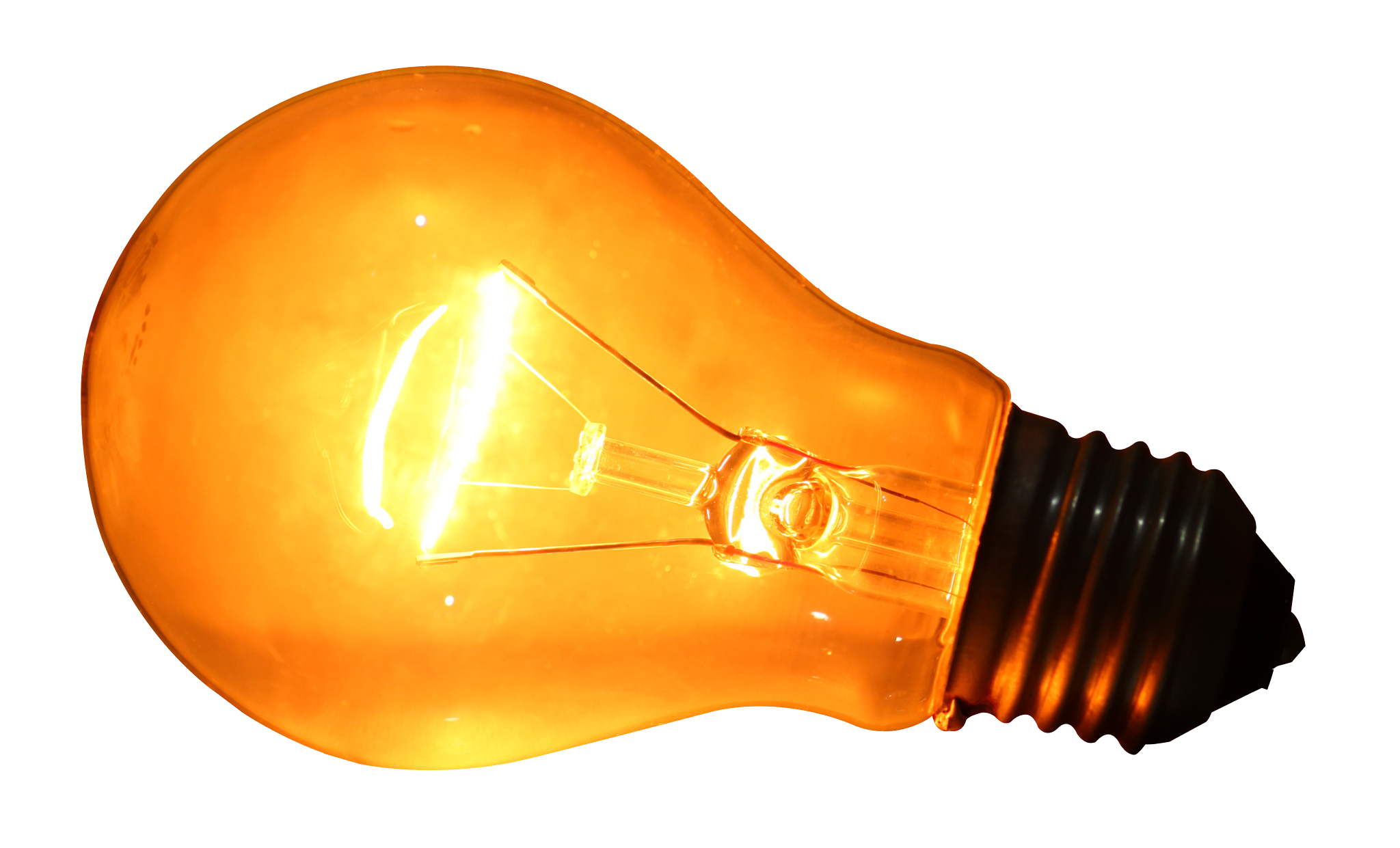 Glowing Bulb Clipart PNG Image