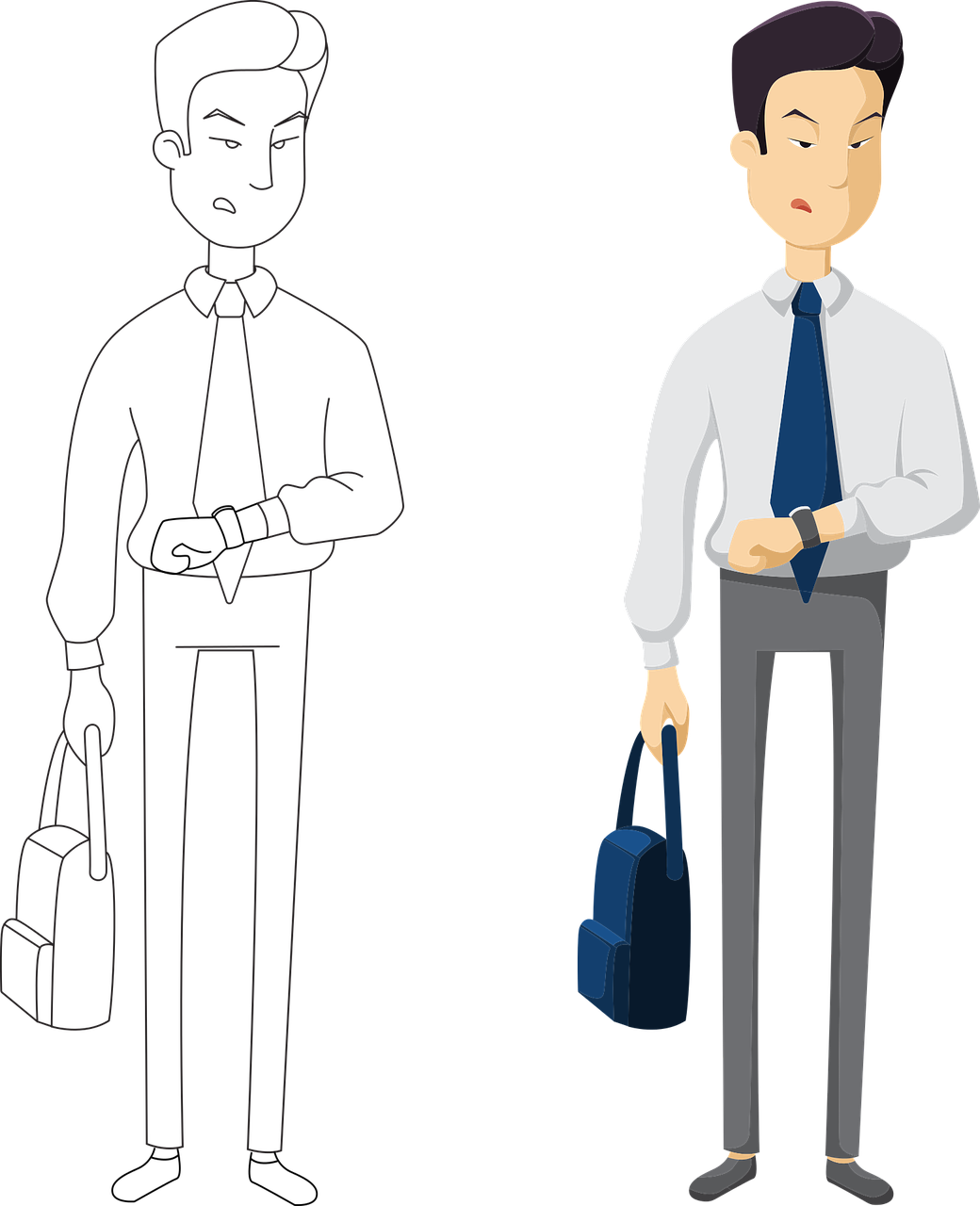 See Businessperson Workers Time Free Transparent Image HQ PNG Image