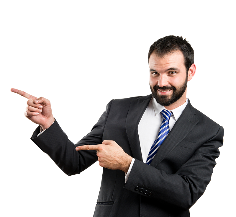 Businessman Poiting PNG Image