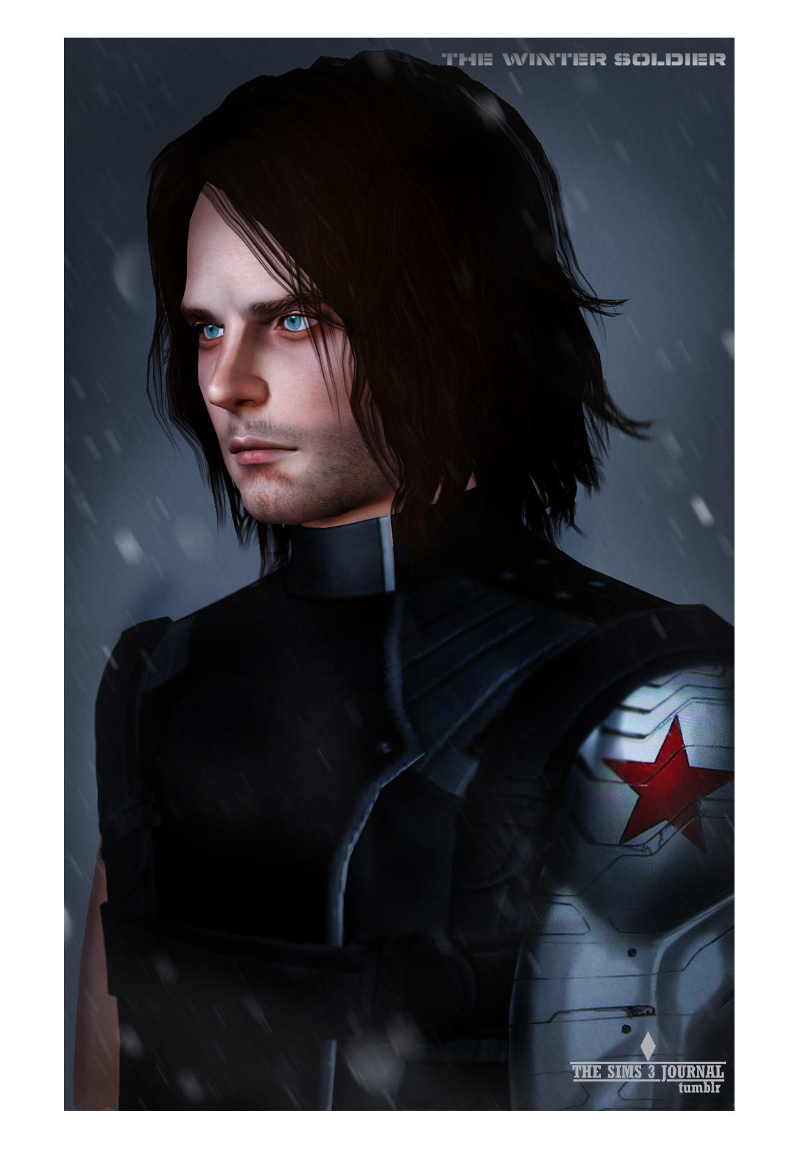 Sims Barnes Character Fictional Hair Bucky Black PNG Image