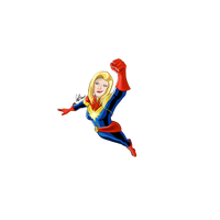 Captain Marvel Clipart PNG Image