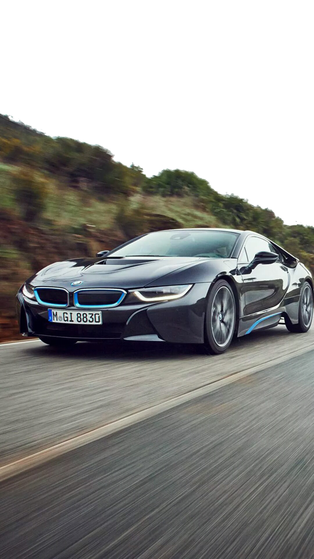 I8 Car Sports Plus Iphone Speeding 2015 PNG Image