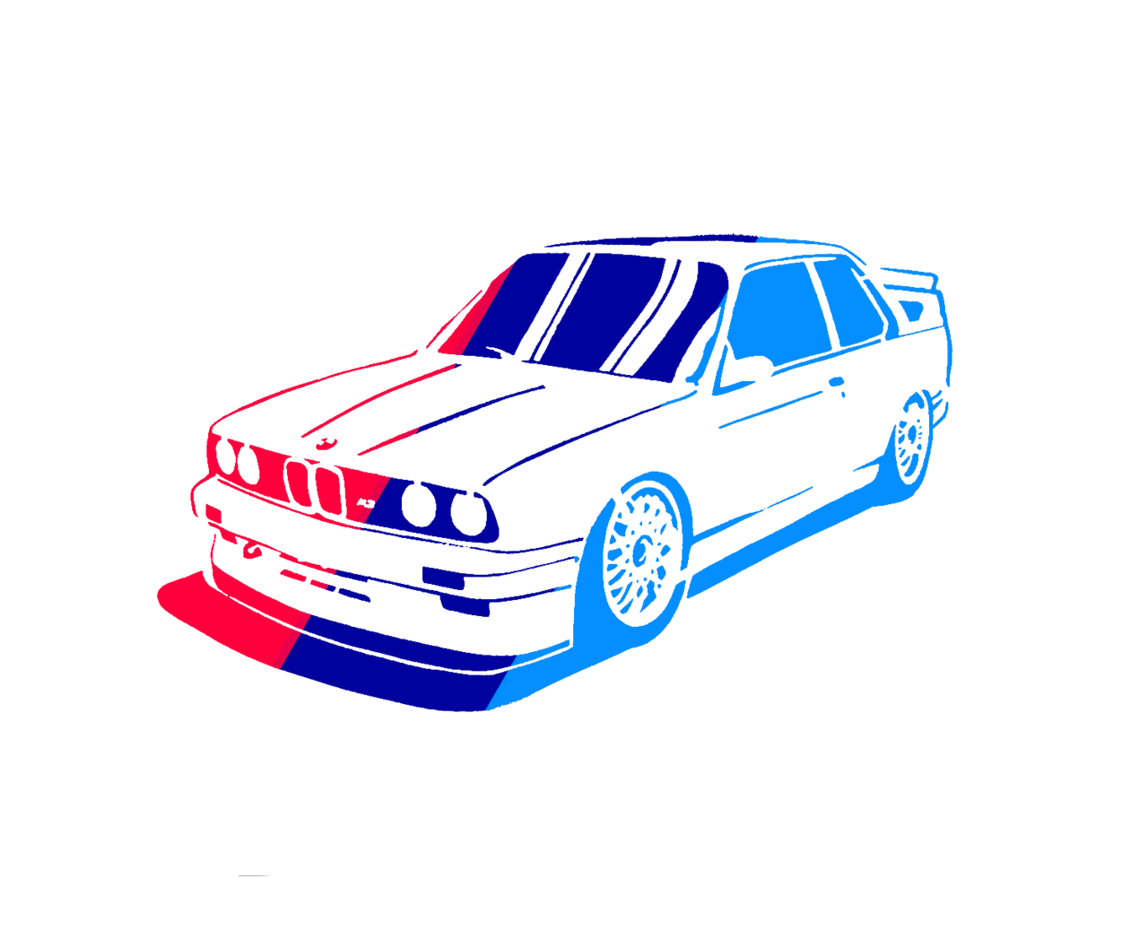 Art Car Vector Bmw M3 Series PNG Image