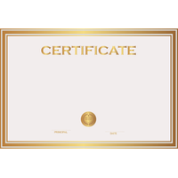 Certificate Template Free Png Image PNG Image