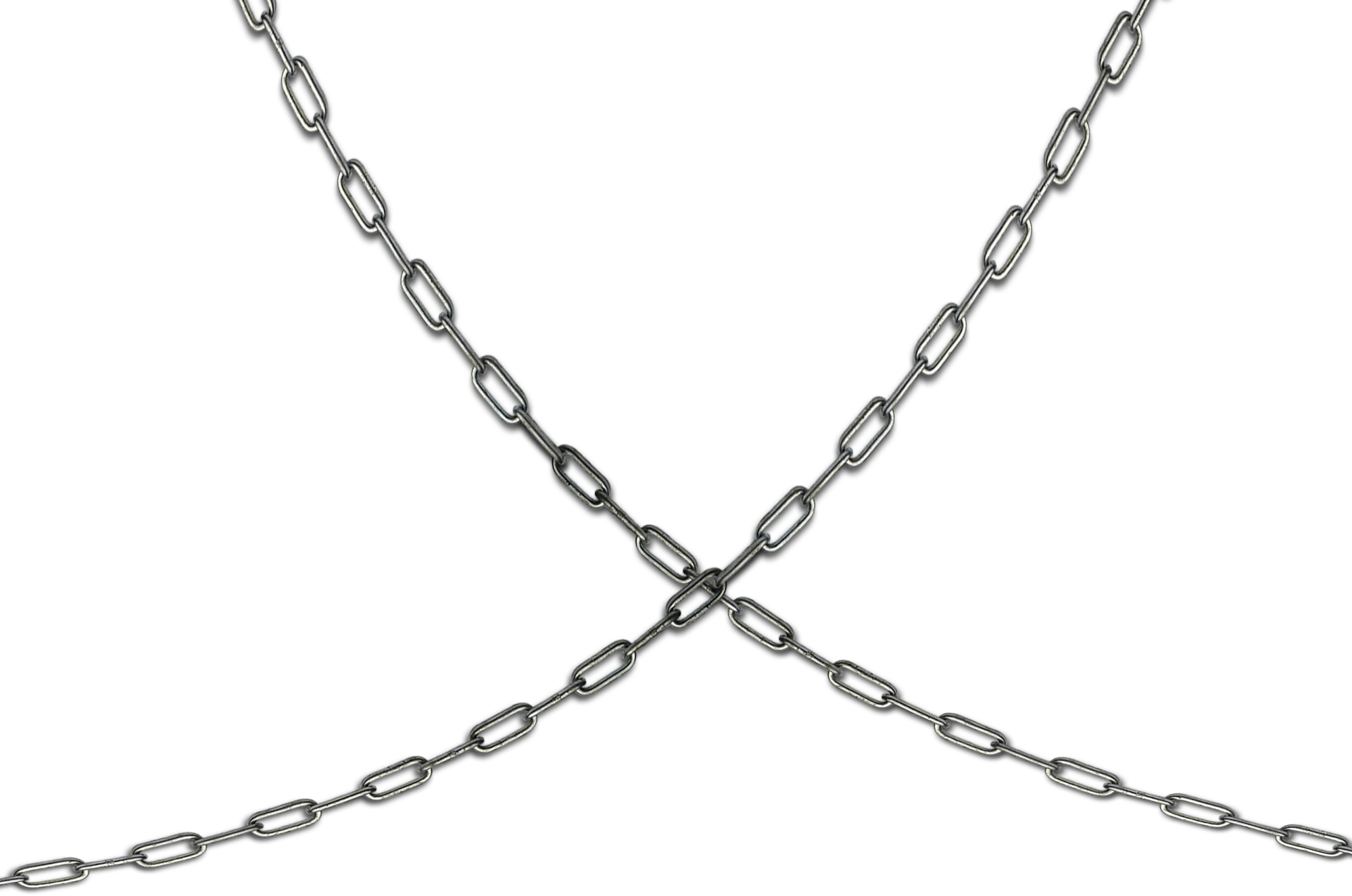 Transparent Silver Chain PNG Image