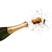 Champagne Popping Clipart PNG Image