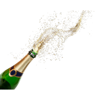 Champagne Popping Transparent PNG Image