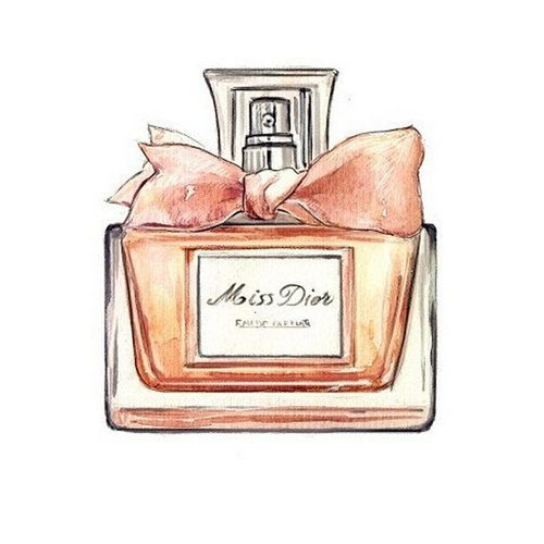 Chanel Watercolor Coco Perfume Painting Drawing PNG Image