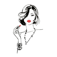 Download Fashion Girls Illustration Drawing Lips Chanel Red Hq Png Image Freepngimg
